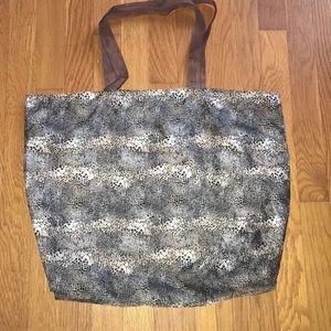 Chico's sheer lightweight bag leopard print